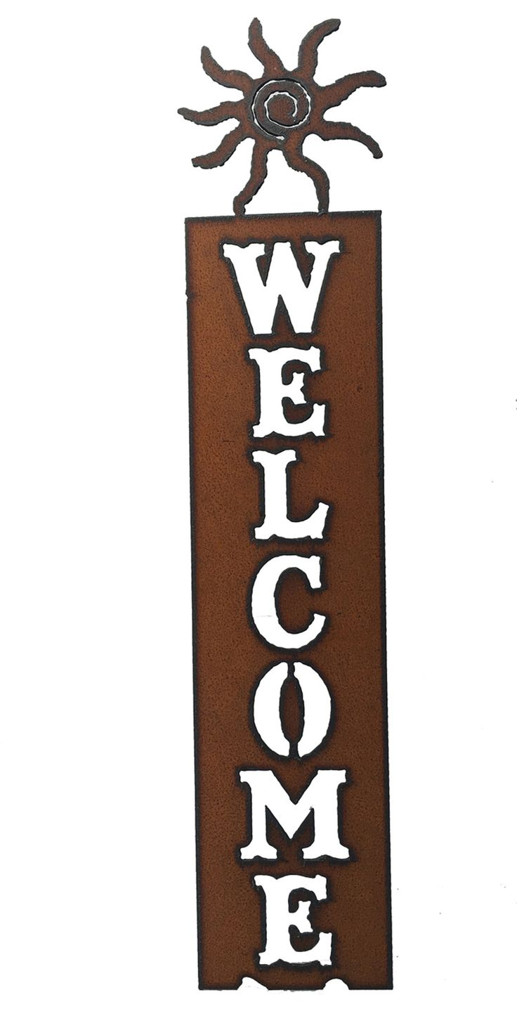 Southwestern Home Decor Sun Vertical Welcome Sign