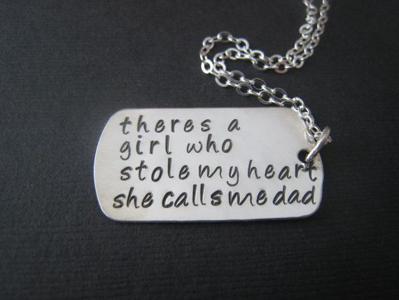 She stole my heart Dog Tag Hand Stamped by stampedjewellery, $52.00