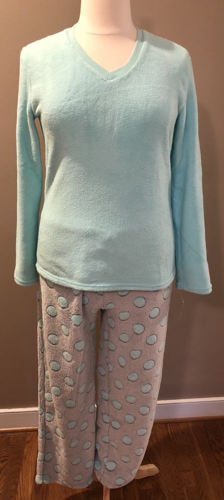 PJ Couture Size XL Pajamas Womens Top Pants Sleepwear Polka Dot Fleece New NWT #PJCouture #PajamaSets #Everyday