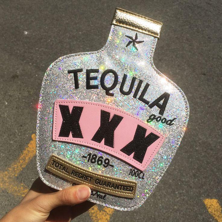 Bolsa Divertida Garrafa Mexican Tequila Bolsa de ombro - free shipping worldwide