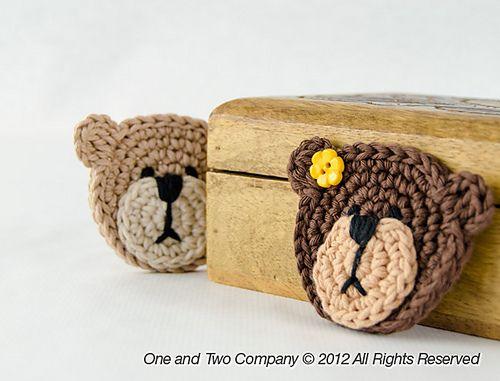 Ravelry: Teddy Bear Applique pattern by Carolina Guzman