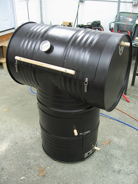 55 Gallon Drum Homemade Smoker
