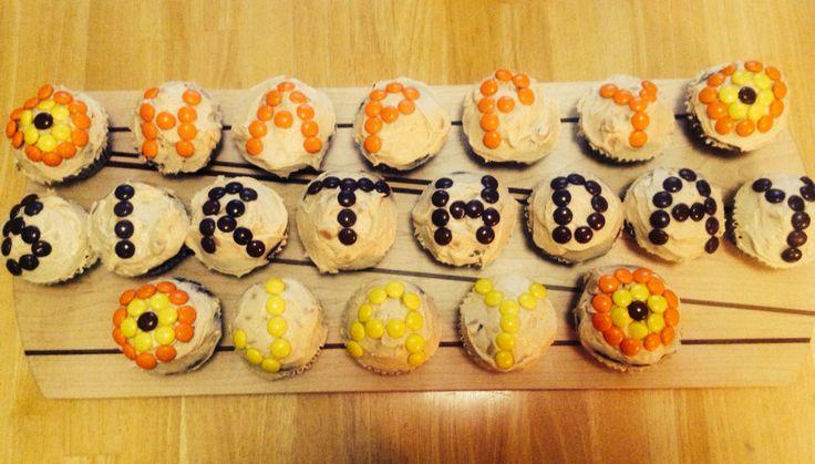Reece's Pieces Cupcakes. Happy Birthday. @shanschlotts