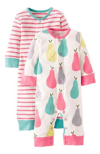 Mini Boden Print Romper (2-Pack) (Baby Girls) available at #Nordstrom