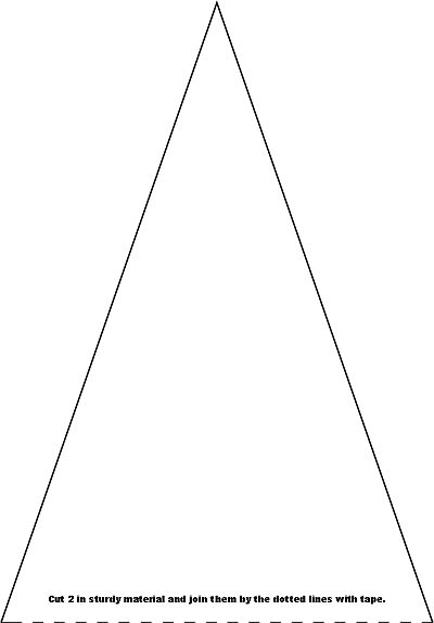 Paper bunting  Bunting template for paper with print on one side. Make sure the pdf-file is at 105% when printing.    A4 (European size) bun...