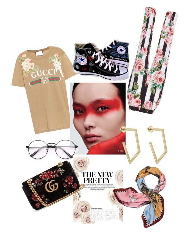 """""""Gucwer"""" by wildorchidx on Polyvore featuring Gucci, Dolce&Gabbana, Converse and Tory Burch"""