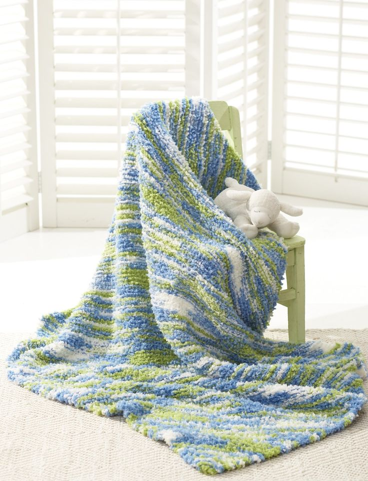 Knitting Patterns Bernat Blanket Yarn : 17 Best images about blanket yarn blankies on Pinterest Free pattern, Ravel...