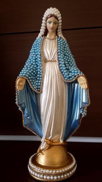 Nossa Senhora das Graças com pérola 35cm