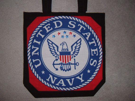 US Navy Emblem Walker Bag by Karolscreations on Etsy, $20.00