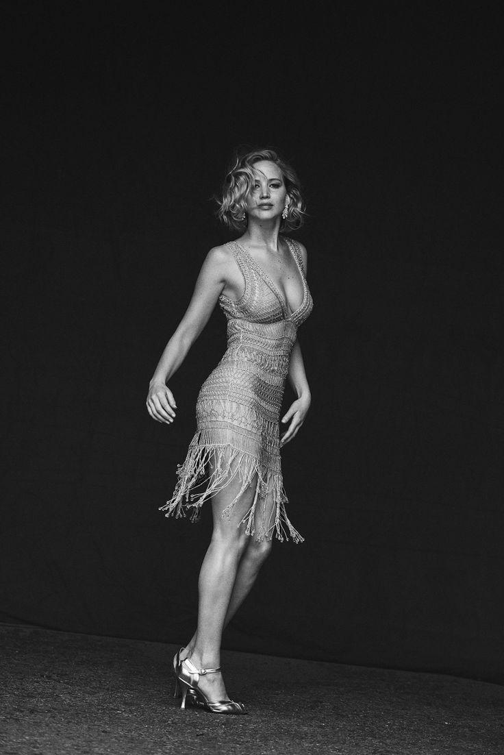 O Glamour Do Cinema No Fantstico Editorial De Moda Com Jennifer Lawrence Clicada Por Peter Lindberg  Fragmentos de Moda
