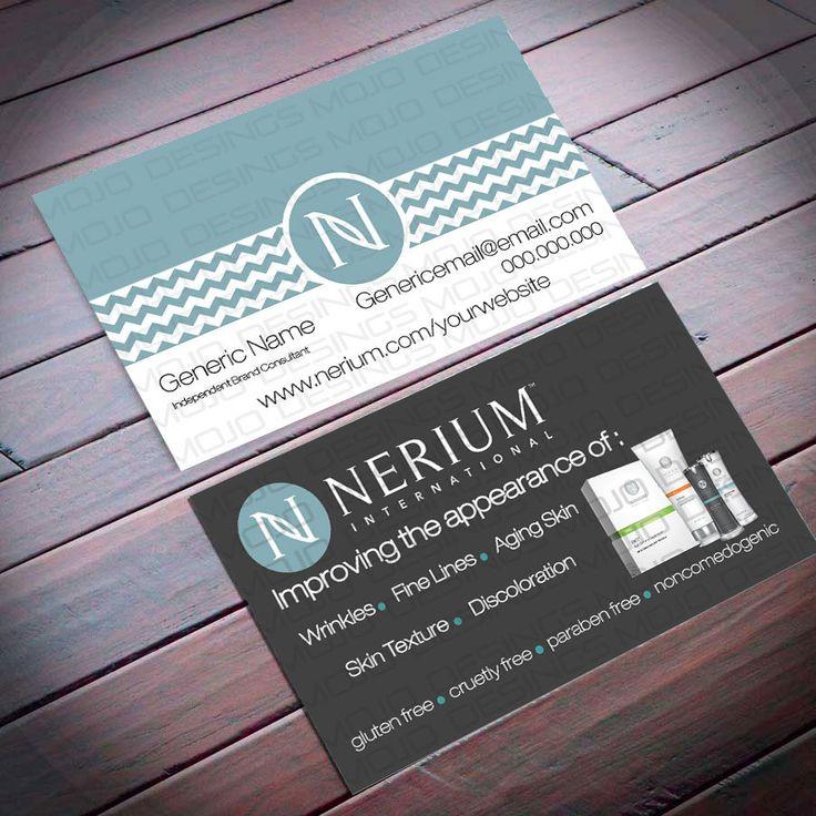 Nerium business card sku2012 by directsalesbymojo on etsy