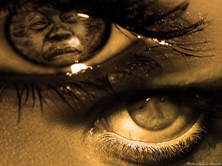 Título: Miradas  Técnica: Fotomontaje  Dimensiones: Ancho 36cm - Alto 27cm  Año de realización: 2011