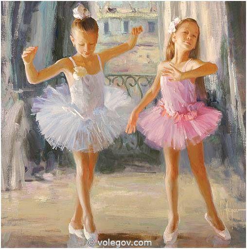 Vladimir Volegov 447. Ballet Twins (2014) http://www.volegov.com/ballet-twins-painting/