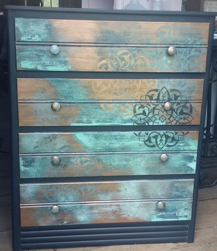 Metal Effects Patina Finish On Furniture By The Window
