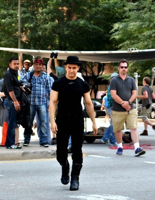 'Aamir Khan' on the sets of Dhoom 3