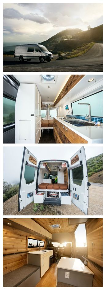 There are many ways to do a camper van conversion, from doing it yourself, to hiring a company to do a build. These photos courtesy of Townsend Travel Trailers.