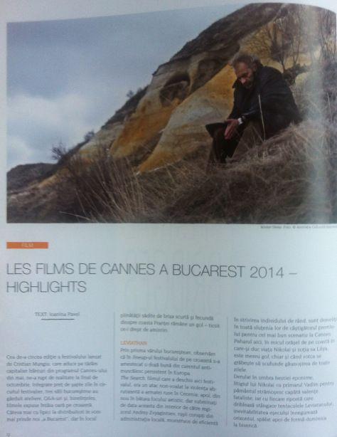 Les Films de Cannes a Bucarest 2014 (1)