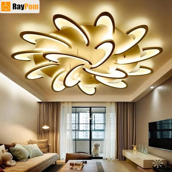 Remote Control Led Ceiling Lights With Ultra Thin Acrylic Flush Mount Lamp Led Ceiling Lights Ceiling Lights Led Kitchen Ceiling Lights