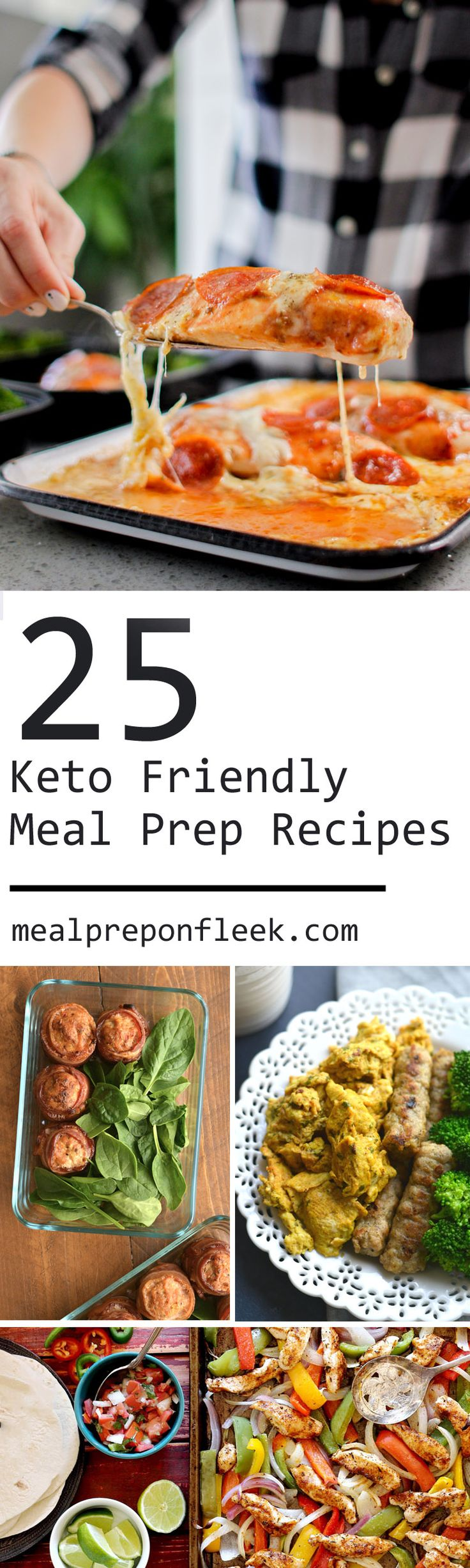 All of the recipes are meal prep friendly leaving you with no excuses as to why you can't stay on track with your ketogenic diet goals. And for those of you who aren't following a keto diet give these recipes a try anyway! Pair them with your favorite rice alternatives for an incredibly delicious and healthy meal.