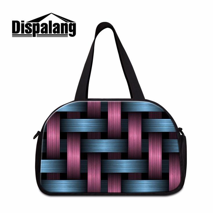 Dispalang Geometric 3D Print Women's Travel Bags Designer Mens luggage garment bag Floral Shoulder Duffle Bags for Teen girls