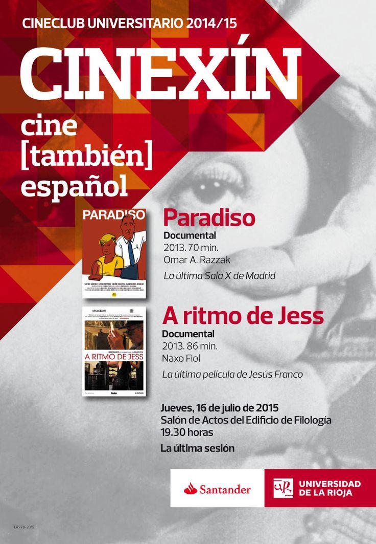 Las proyecciones del Cineclub Universitario 2014/2015: 'Paradiso' y 'A ritmo de Jess' http://www.unirioja.es/apnoticias/servlet/Noticias?codnot=7903&accion=detag&month=7&year=2015