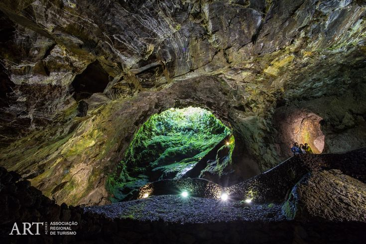 Algar do Carvão: a 90 metre-deep volcanic chimney formed approximately 3,200 years ago after the magma drained from the main chimney receding to the magma chamber.