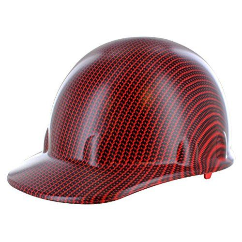 Rugged Blue Hydrographic Black/Red Carbon Fiber Hard Hat (1 Hat) - OSSG-CSGSCHH1000036033-RED-SleekCap  Print: Black Carbon Fiber Red Underlay; Extremely Vivid Colors!  Customized Using Hydrographic Printing Process!  Clear Coat Finish  Scratch Resistant  Made in USA with Imported Components