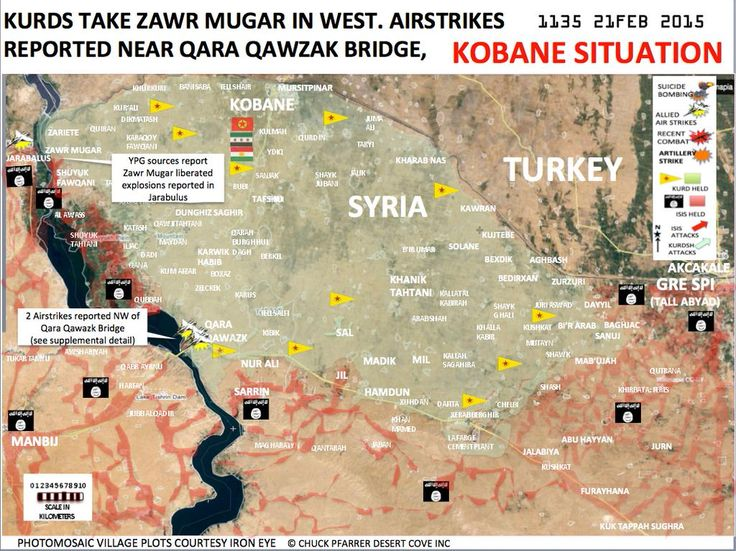 Syria-Kobane-Situation-Map- KURDS TAKE BACK NEARLY ALL LOST AREA AFTER KOBANI 21/02.15