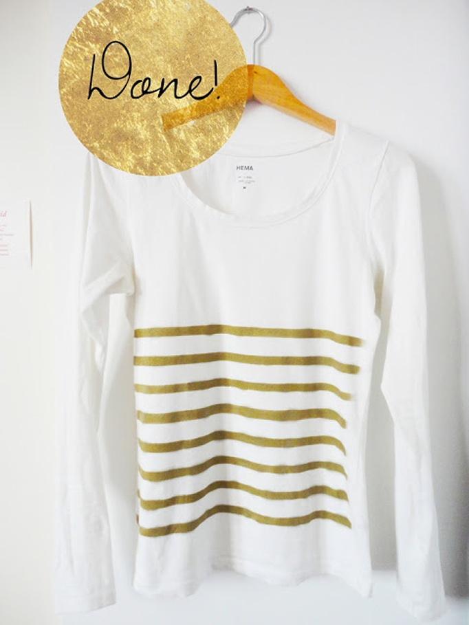 Decora una camiseta basica con aerosol