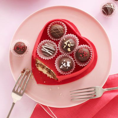 Truffle Box Cake  - HouseBeautiful.com