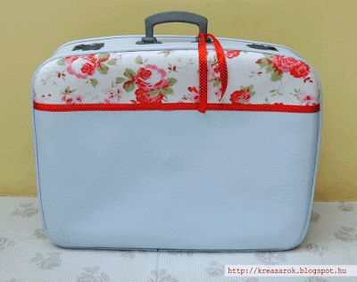 rose old suitcase
