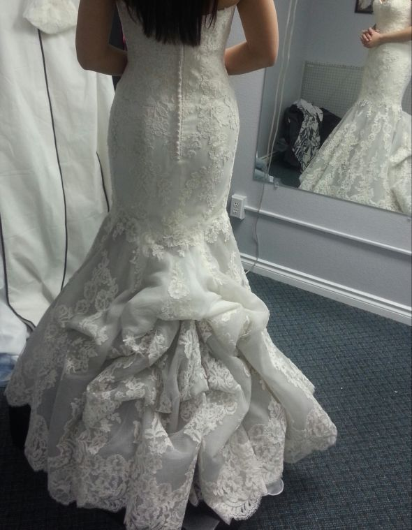 American Bustle Wedding Dress | Did you bustle your dress at your wedding? If so, what kind of bustle ...