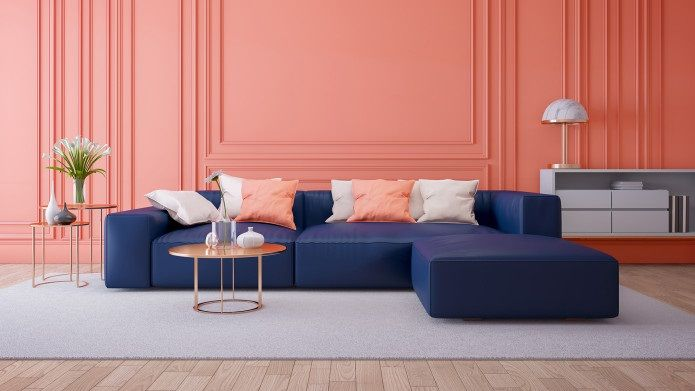 Pantone S 2020 Color Of The Year Is Classic Blue Kitchen Studio Of Naples Coral Walls Coral Living Rooms Modern Sofa Set