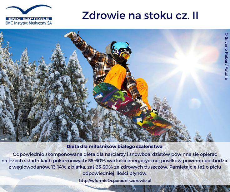 Co jeść by mieć siłę na białe szaleństwo na stoku? #dieta #snowboard #narty #zima #ruch #fitness #sport #zdrowie #zdrowadieta #dbajosiebie #dbajozdrowie #odpornosc #energia #nastoku #radosc #emc #emcszpitale