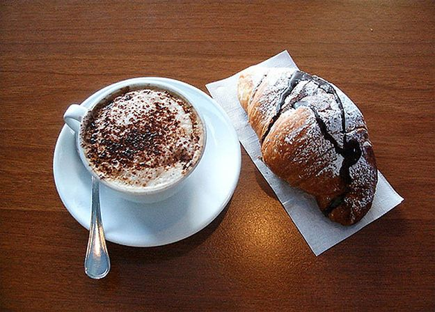 18 Delicious Breakfasts From Around The World- A cappuccino and a croissant for breakfast? Hard life.