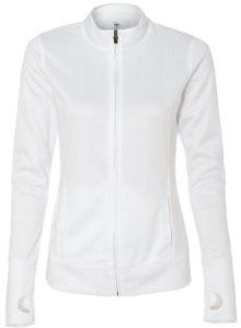 Image of Yoga Clothing For You Ladies Lightweight Performance Jacket, XL White
