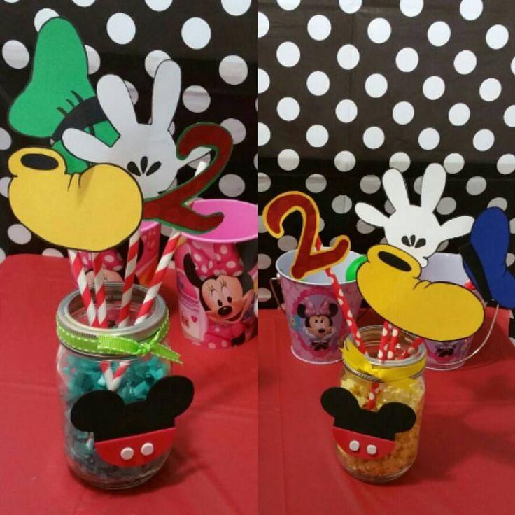 Mickey Mouse Club House. Centro de Mesa. Decoracion. Party Ideas
