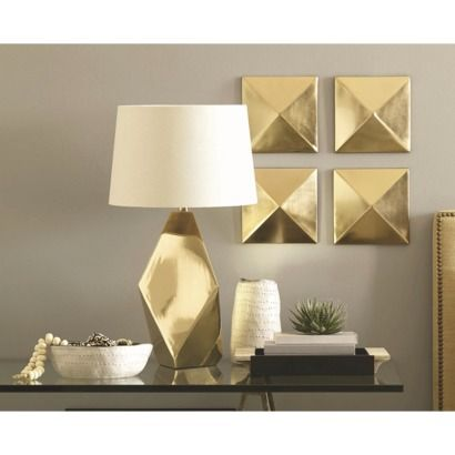 Need this lamp for the bedroom! Nate Berkus™ Table Lamp Base - Gold (includes CFL bulb)