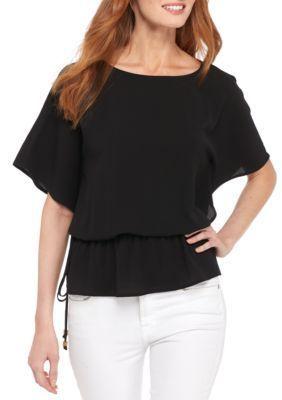 Michael Michael Kors Women's Kimono Sleeve Top - Black - Xs