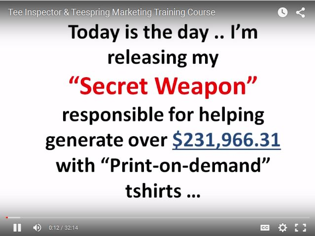 Tee Inspector T-Shirt Research Software To Generate Over $200,000+