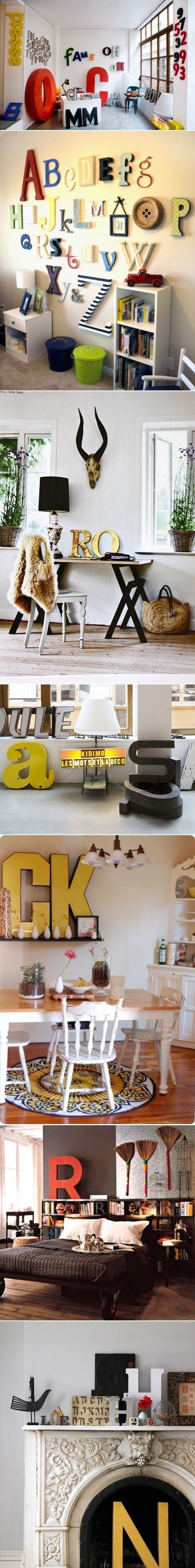 Decorate Your Interior With Letters
