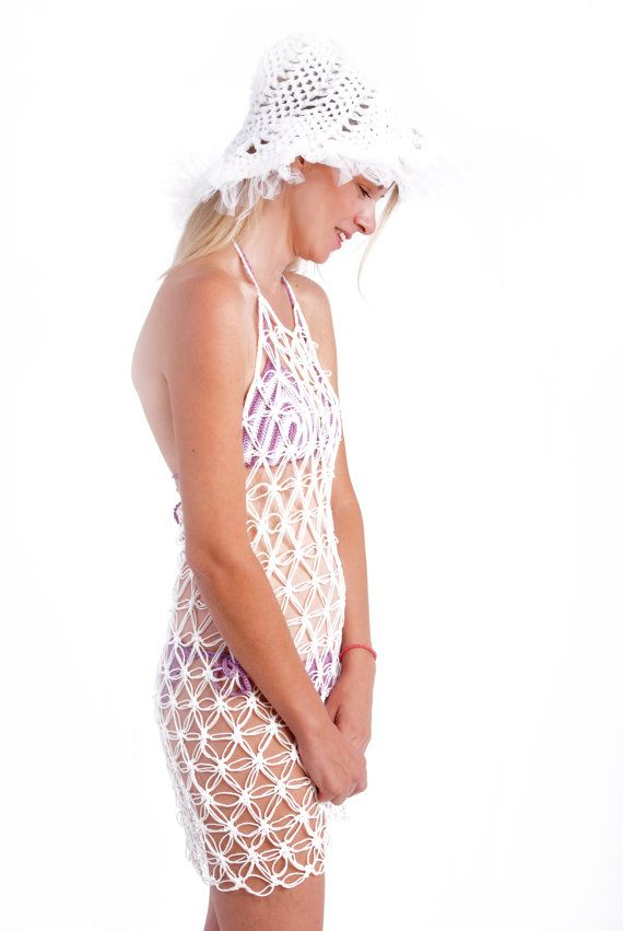 fishnet dress crochet dress mesh beach cover uperotic by kikapaca