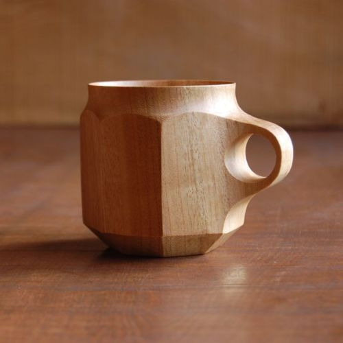 cool wooden mug