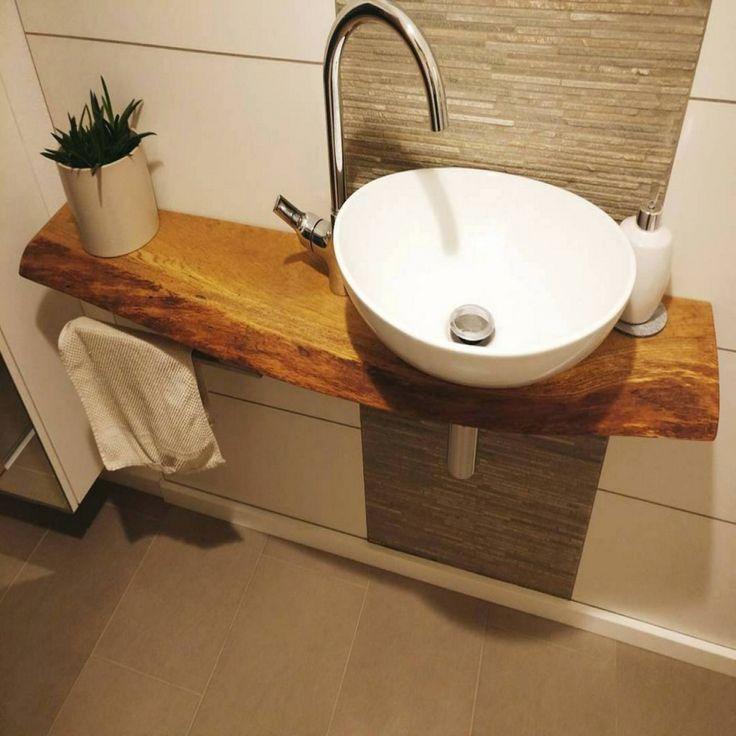 Badezimmer Waschbecken Mit Unterschrank Kleines Waschtisch Und Diy in Bezug Wasc…, #Badezi…