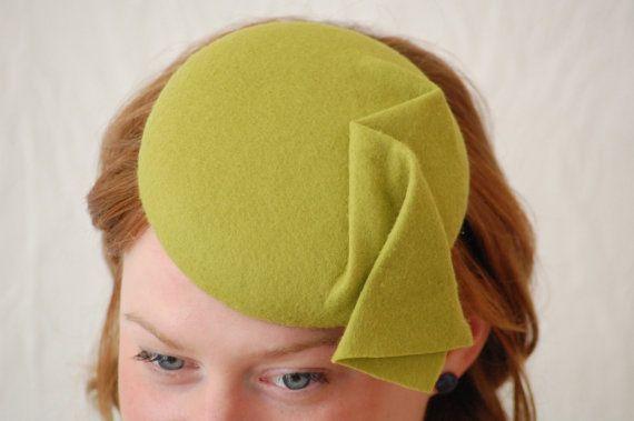 Spring green vintage style button hat / fascinator by HeatherFeatherDesign, £45.00