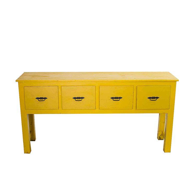 Southwestern Yellow Console Table on Chairish.com