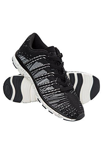 Mountain Warehouse Knit Womens Running Shoes Black 8 M US Women *** Read more  at the image link.