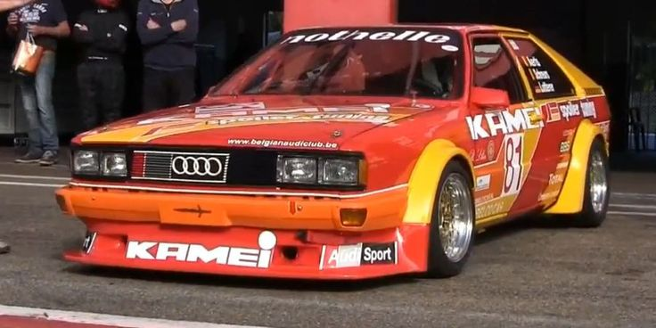 5 Cylinder Glory: Audi Coupe at Zolder, repinned by www.BlickeDeeler.de
