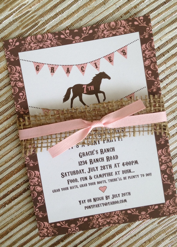 46 Best Party Invites Images On Pinterest Horses Beautiful And