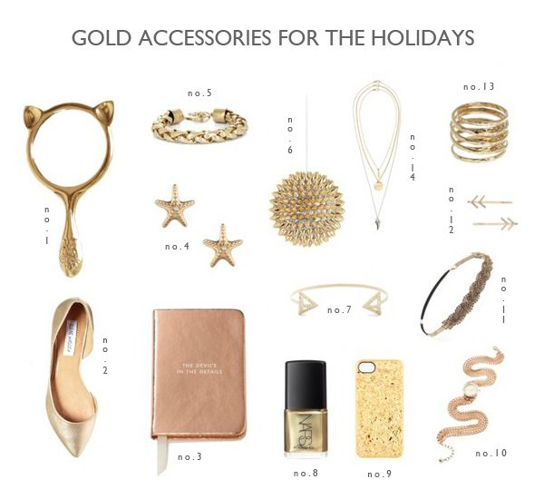 14 Gold Accessories For The Holidays | Lovelyish